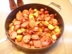 Kitchen Kween Polish Sausage Skillet