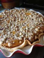 Pumpkin Pecan Crumble Pie