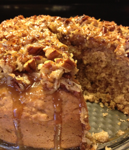 Oatmeal Cake with Broiled Nut Topping